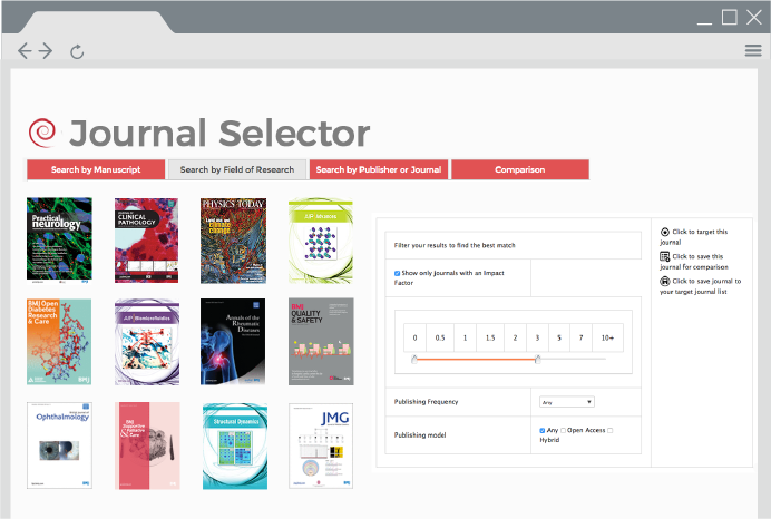 Integrated journal selector tool